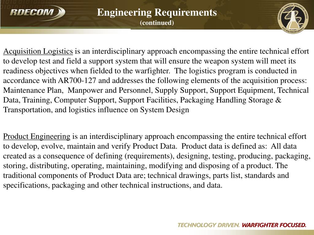 Engineering Requirements