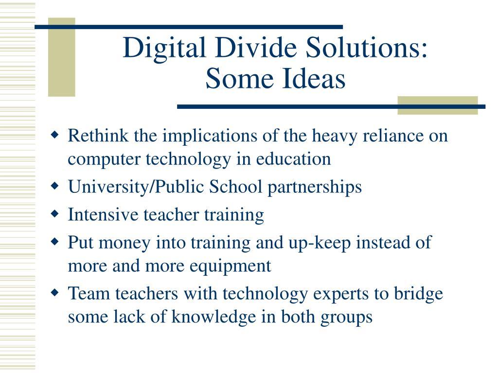 Digital Divide Solutions: