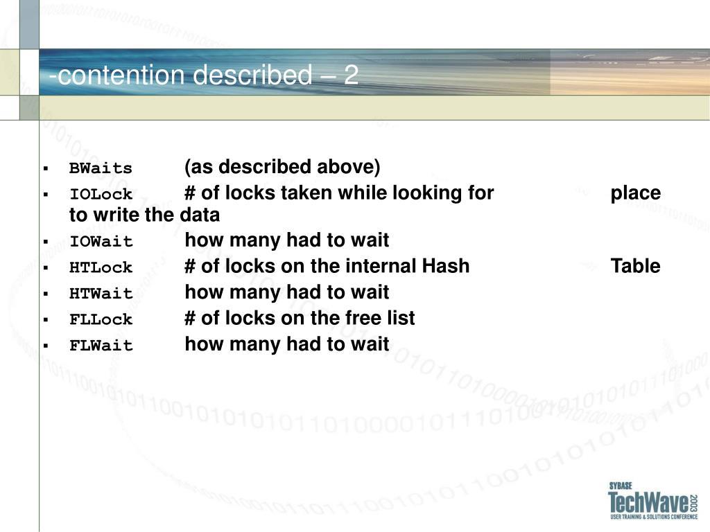 -contention described – 2
