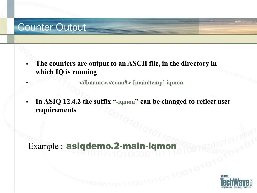 Counter Output