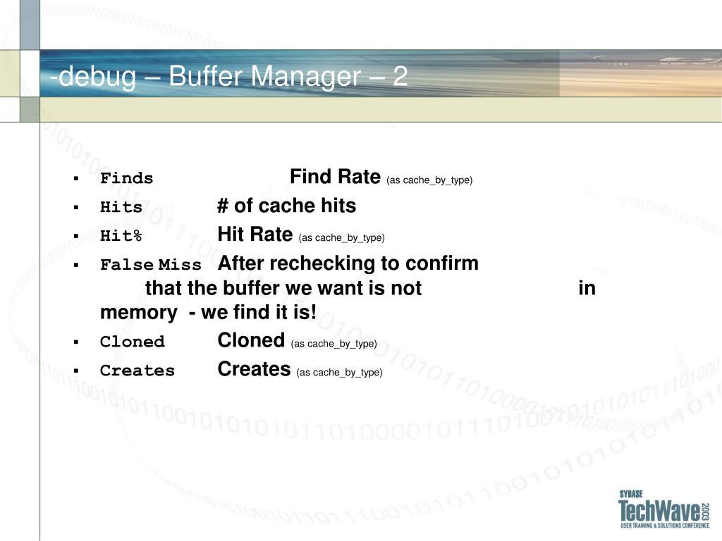 -debug – Buffer Manager – 2