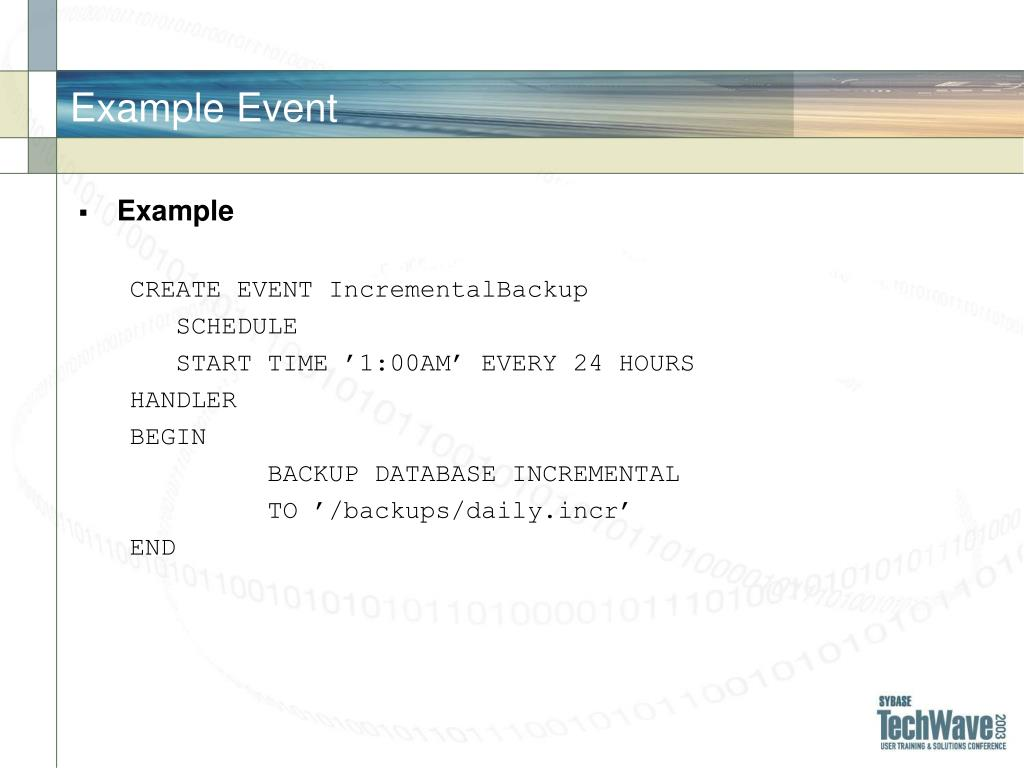 Example Event