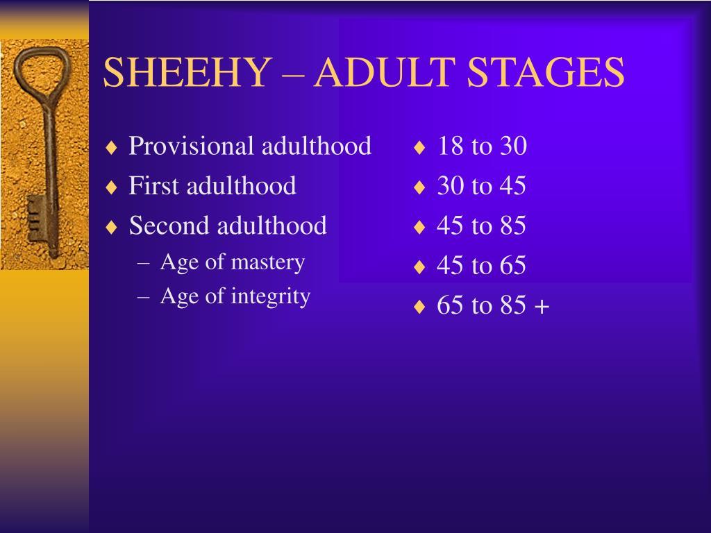 Provisional adulthood