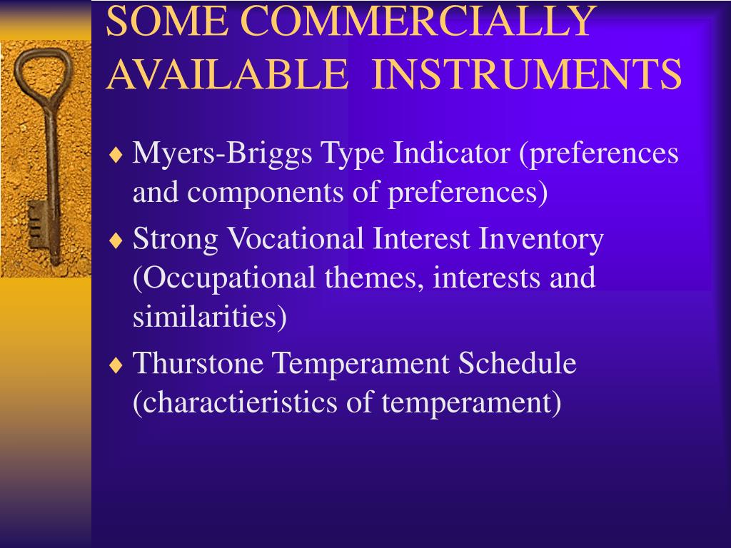 SOME COMMERCIALLY AVAILABLE  INSTRUMENTS