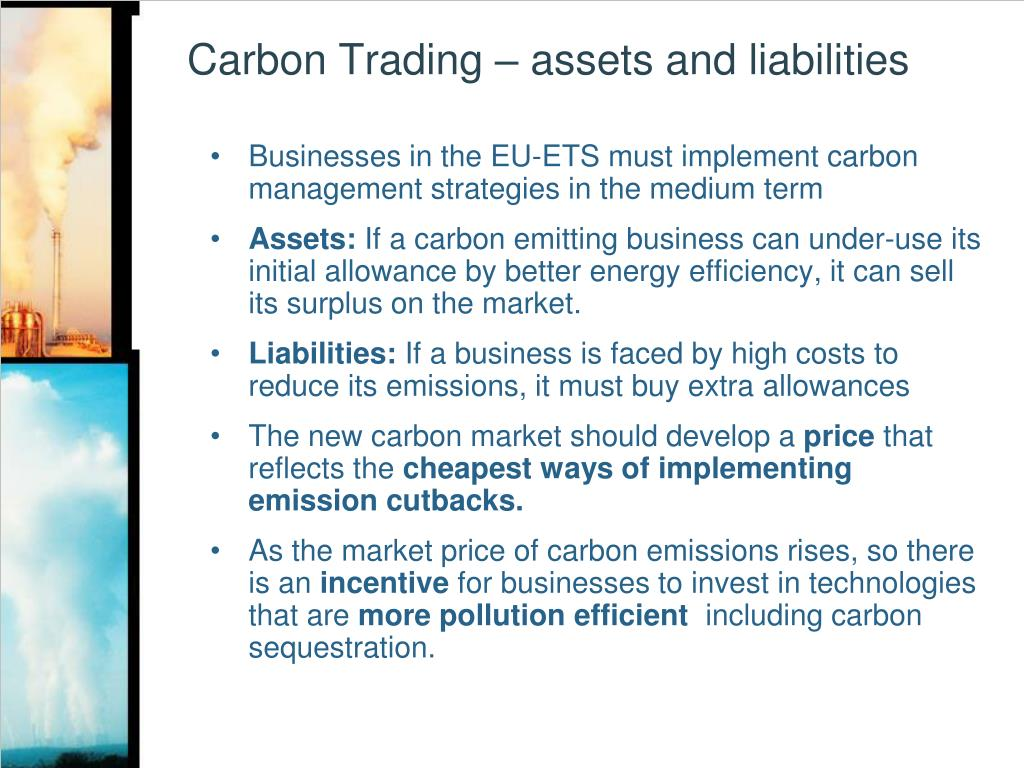 Carbon Trading – assets and liabilities