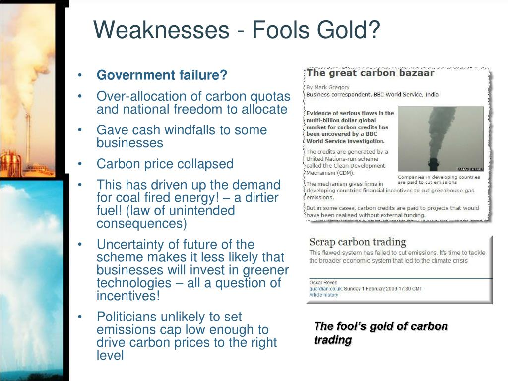 Weaknesses - Fools Gold?