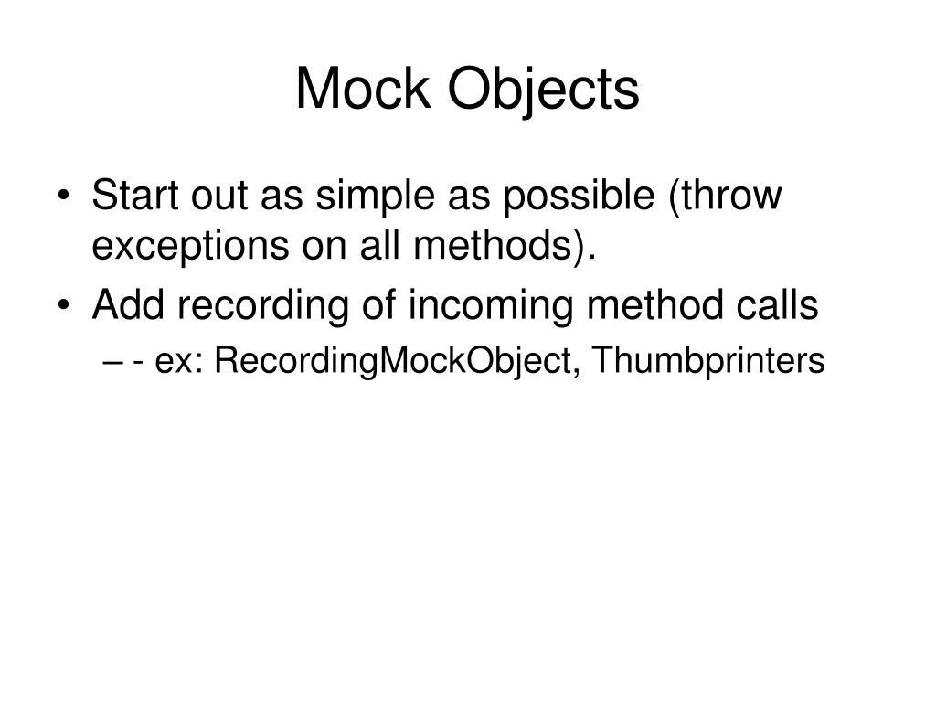 Mock Objects