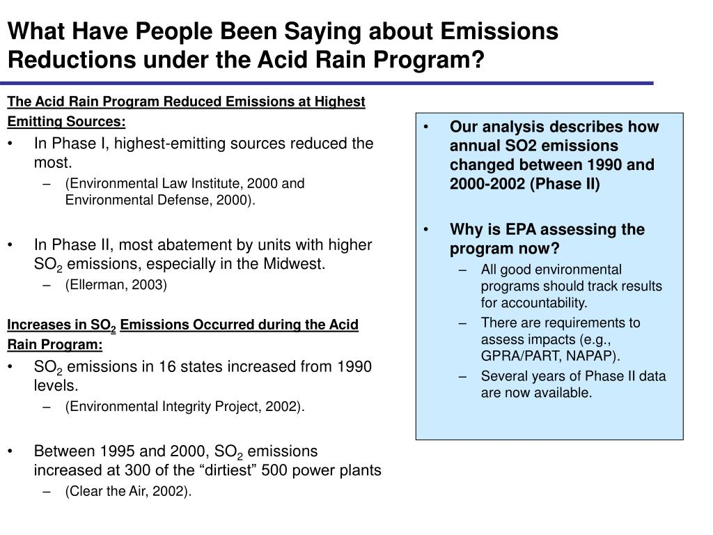 What Have People Been Saying about Emissions Reductions under the Acid Rain Program?