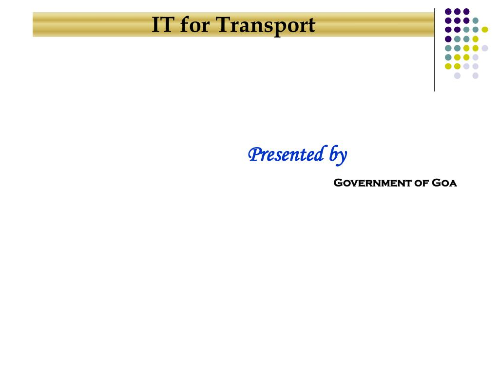 IT for Transport