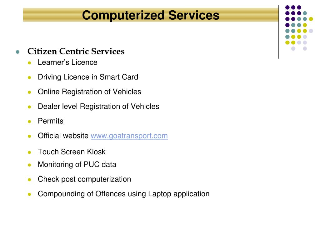 Computerized Services