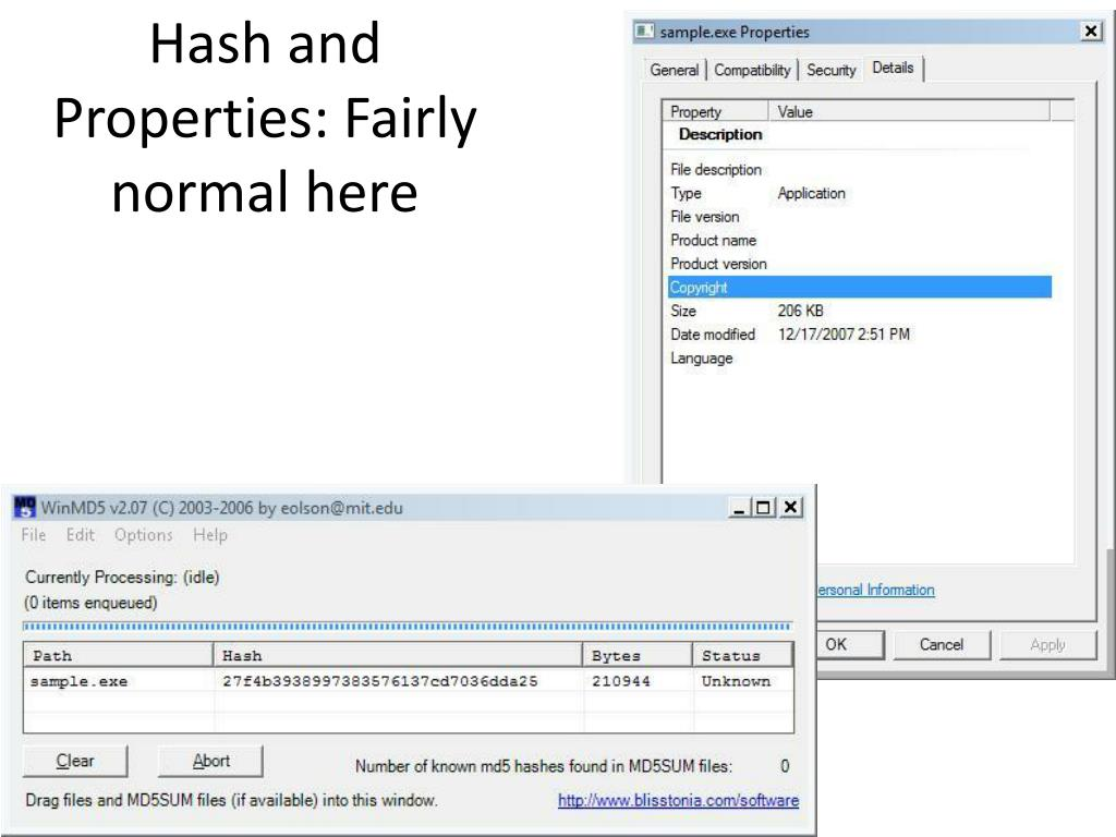 Hash and Properties: Fairly normal here