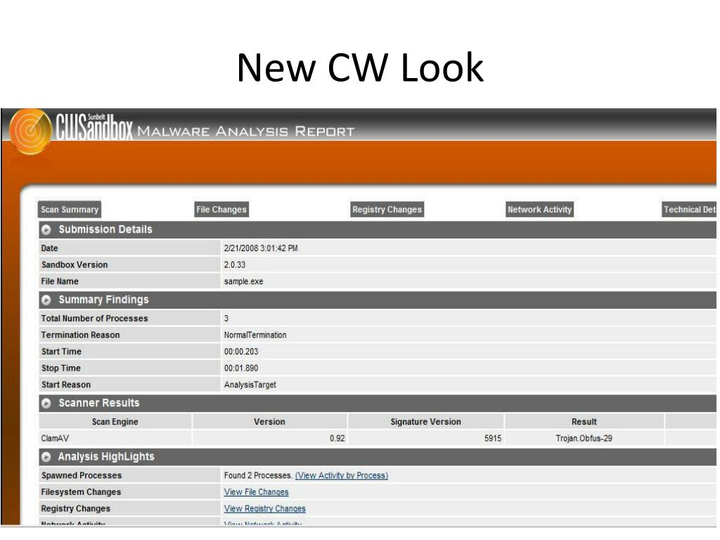 New CW Look