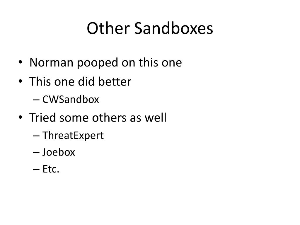 Other Sandboxes