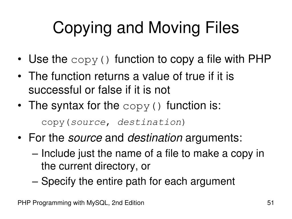 Copying and Moving Files