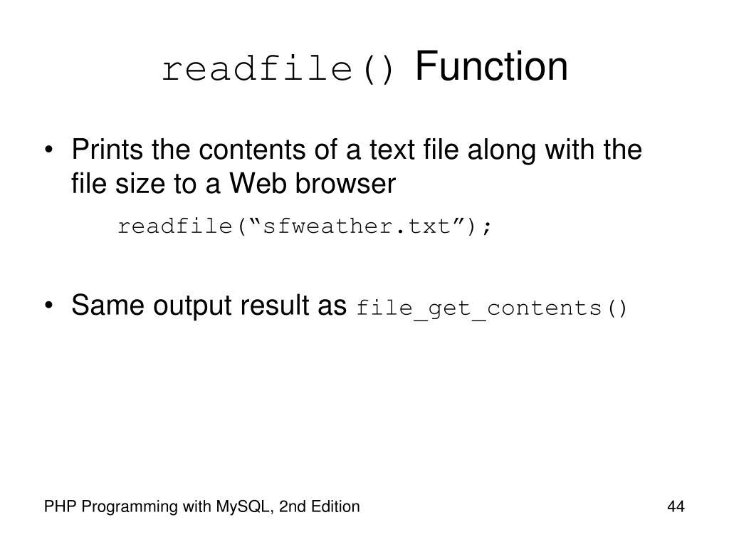 readfile()