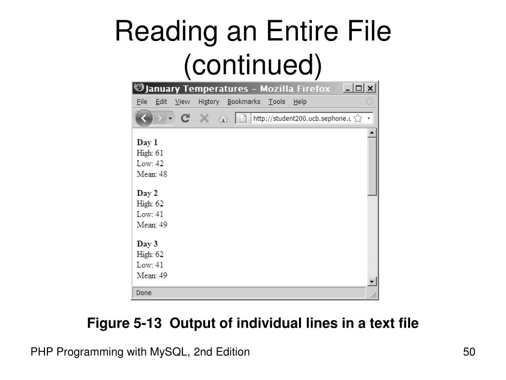 Reading an Entire File