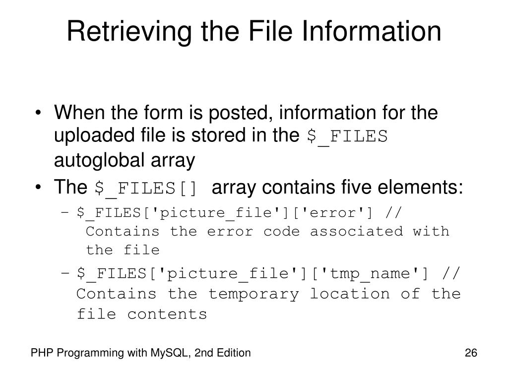 Retrieving the File Information