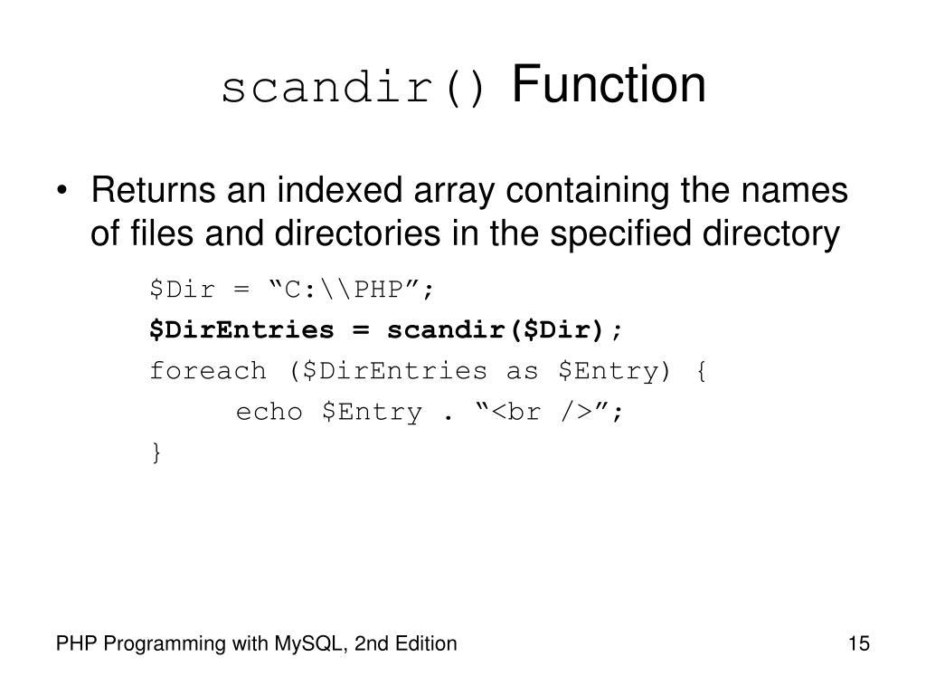 scandir()