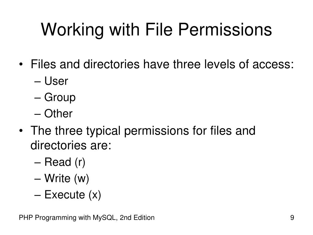 Working with File Permissions