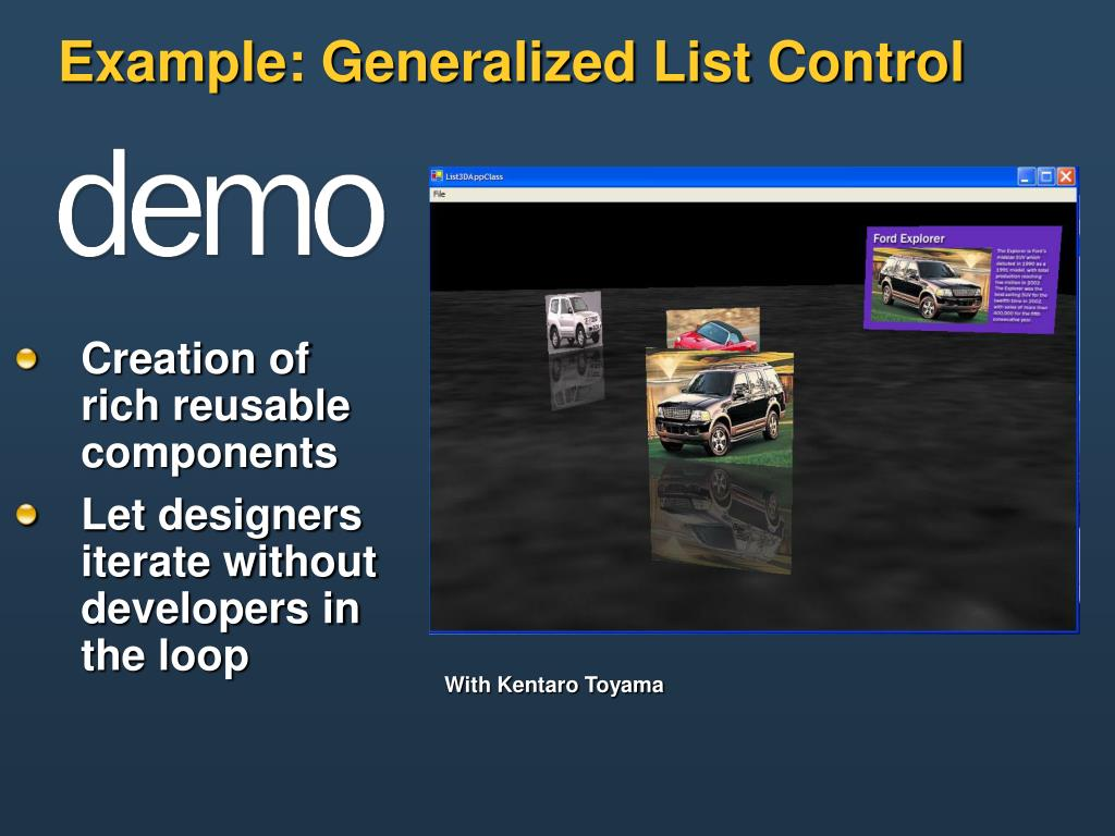 Example: Generalized List Control
