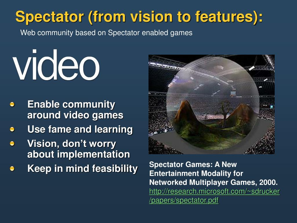 Enable community around video games