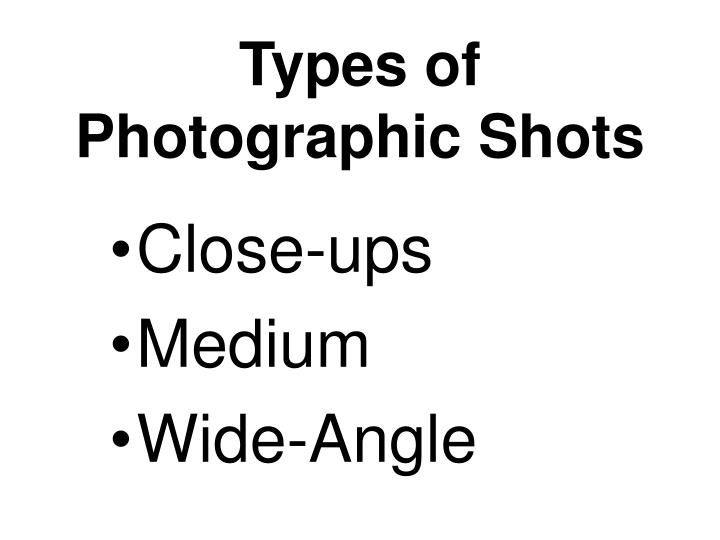 Types of photographic shots