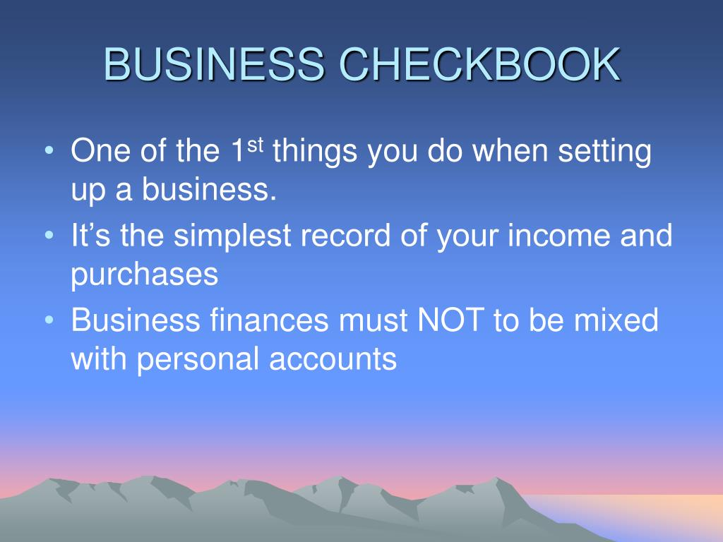 BUSINESS CHECKBOOK