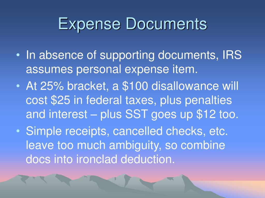 Expense Documents