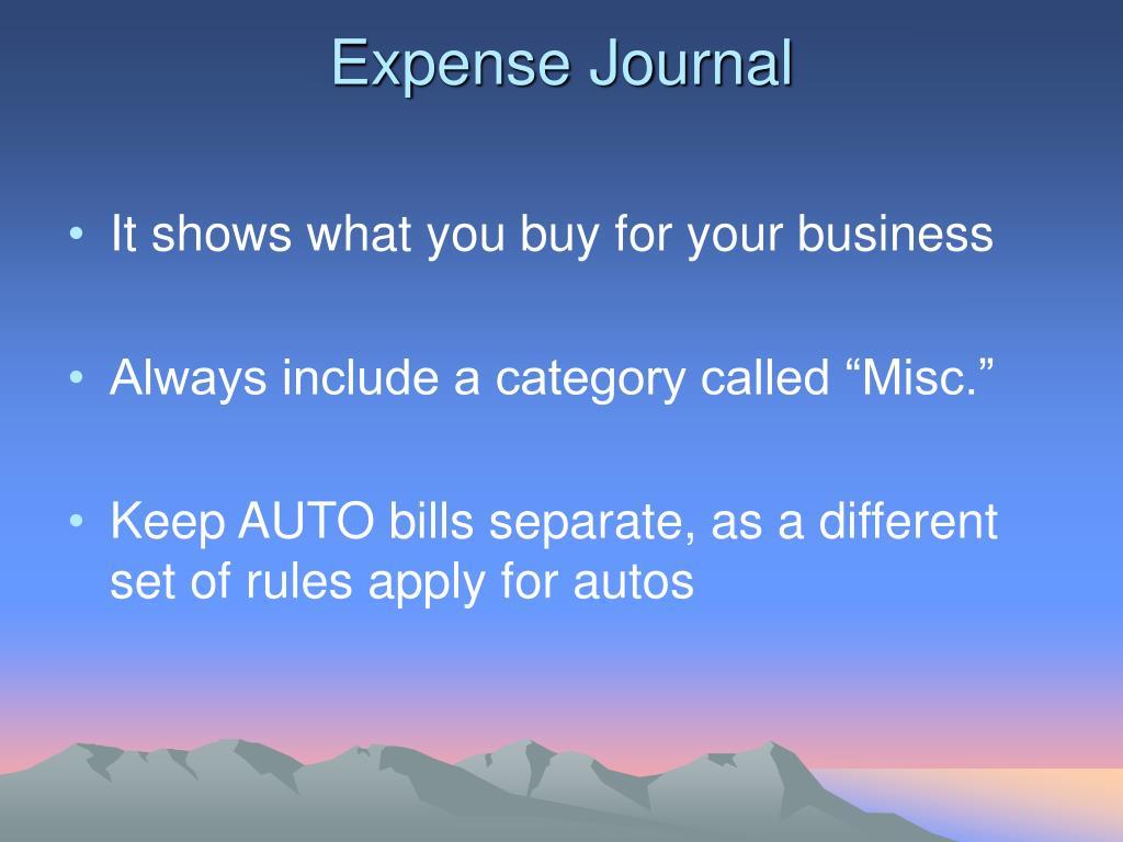 Expense Journal