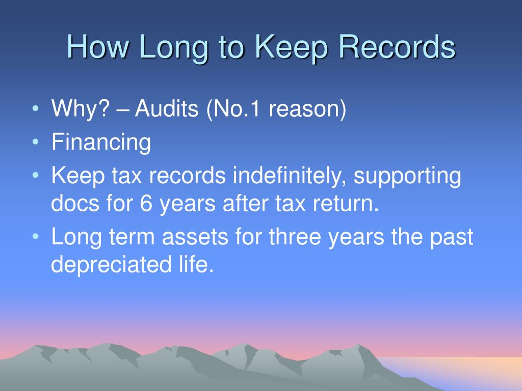 How Long to Keep Records