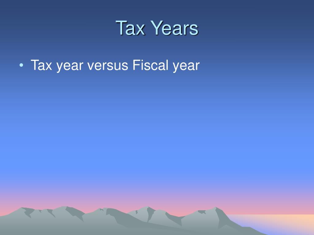 Tax Years