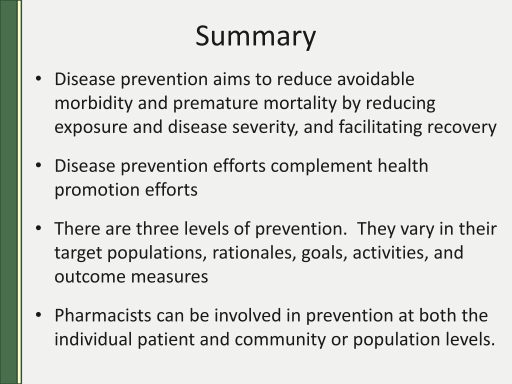 Health promotion and disease prevention efforts essay