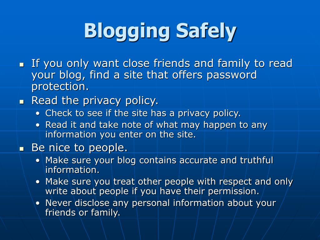 Blogging Safely