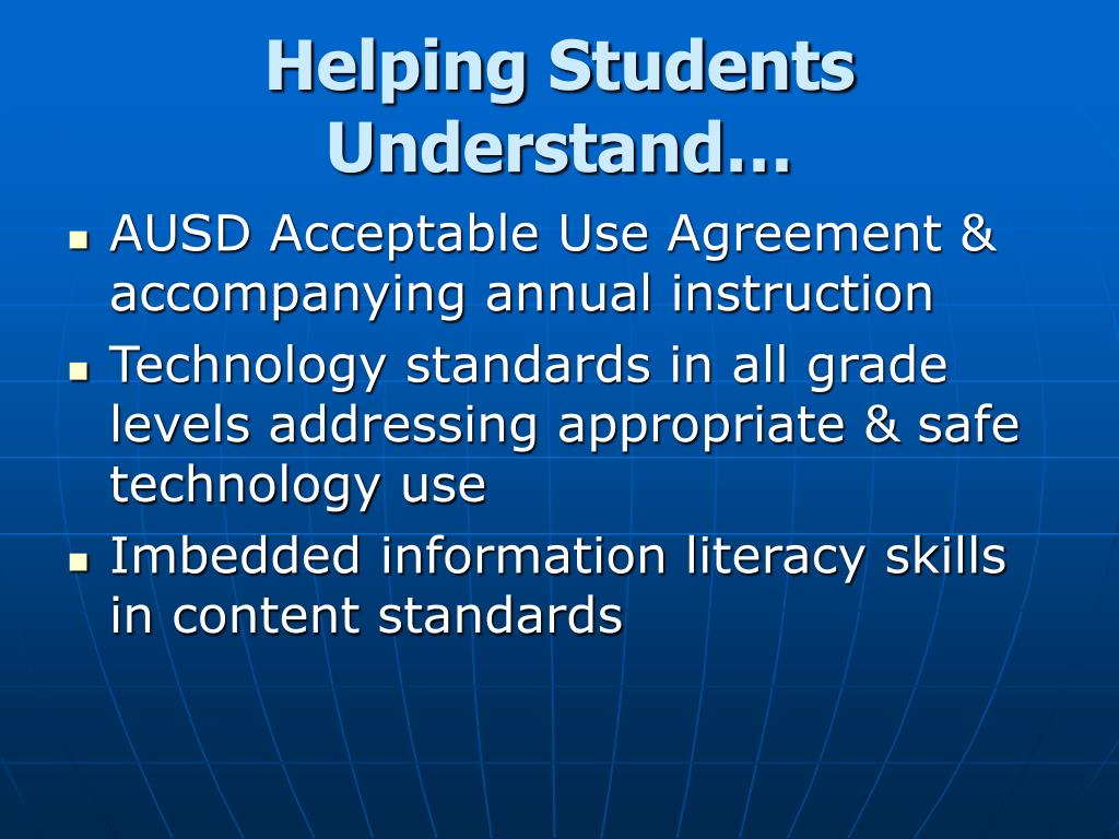 Helping Students Understand…