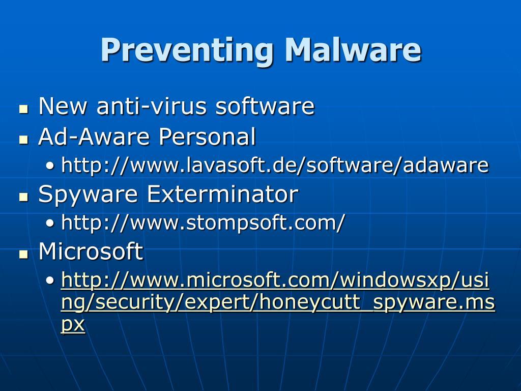 Preventing Malware