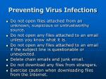 preventing virus infections
