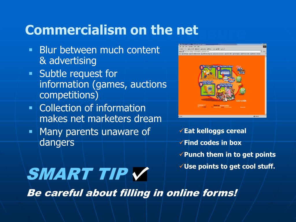 Commercialism on the net