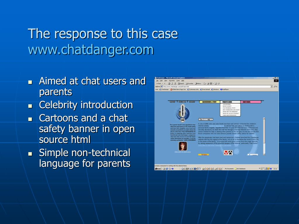 Aimed at chat users and parents