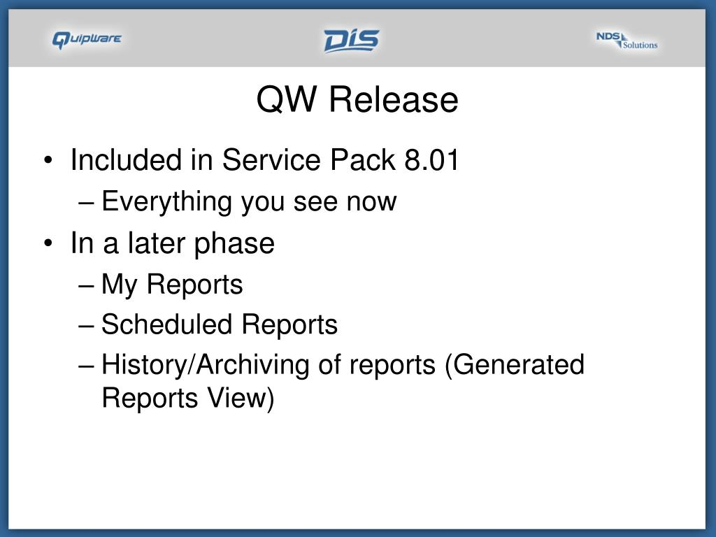 QW Release