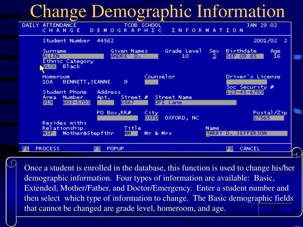 Change Demographic Information