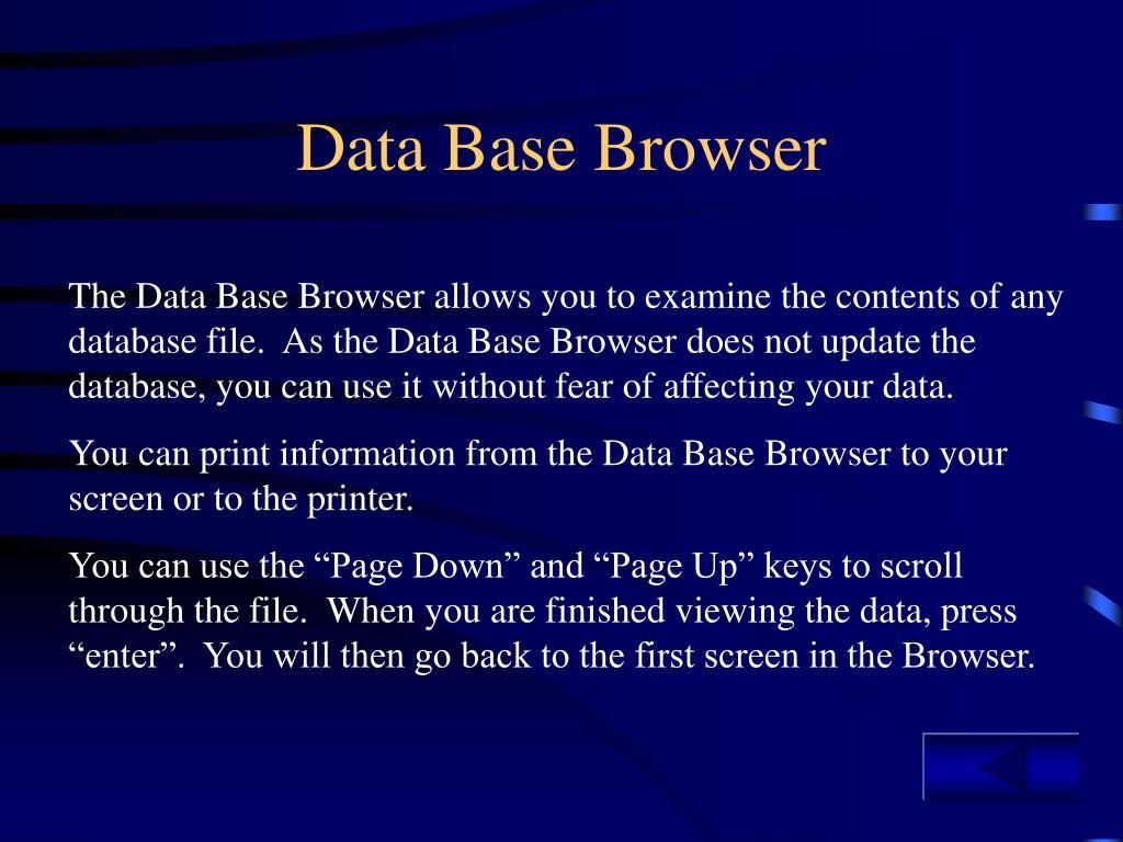 Data Base Browser