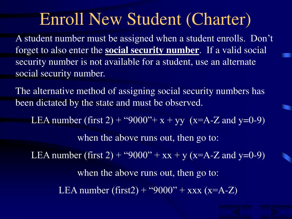 Enroll New Student (Charter)