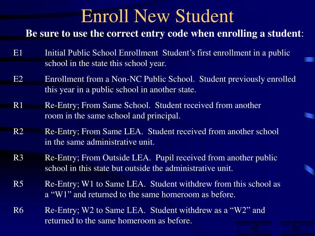 Enroll New Student