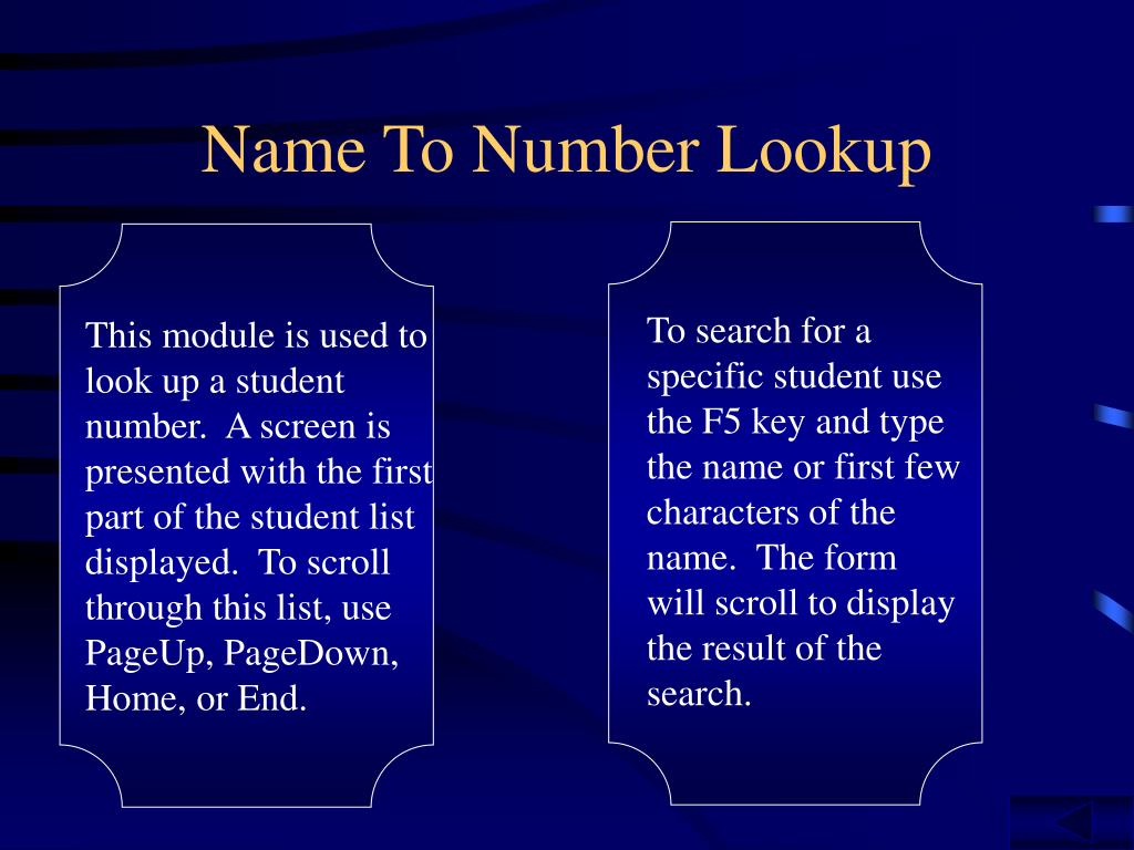 Name To Number Lookup