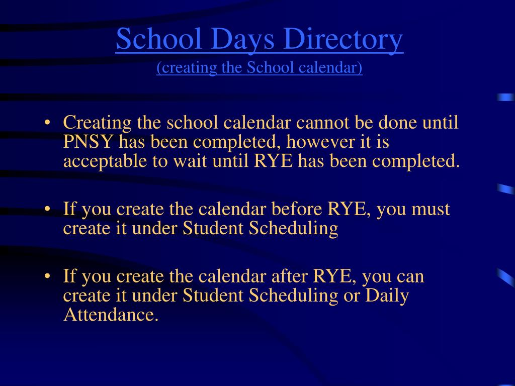 School Days Directory