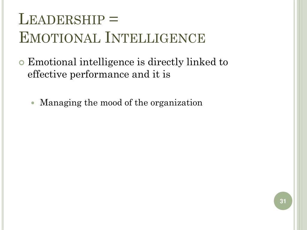 Leadership =