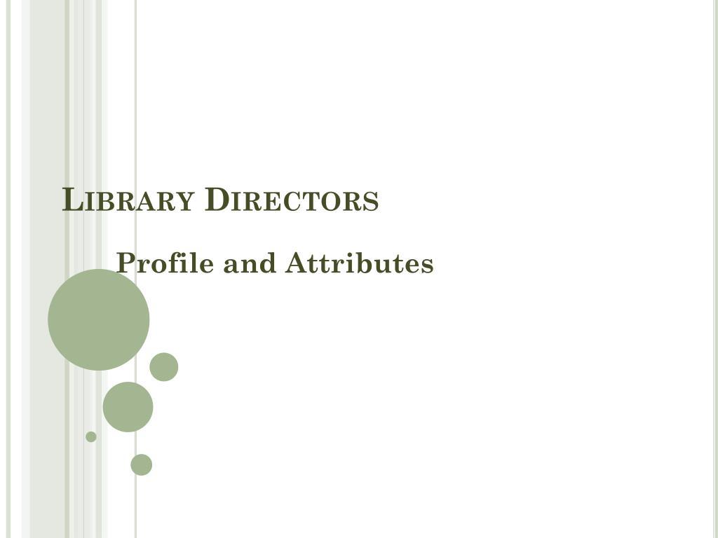 Library Directors