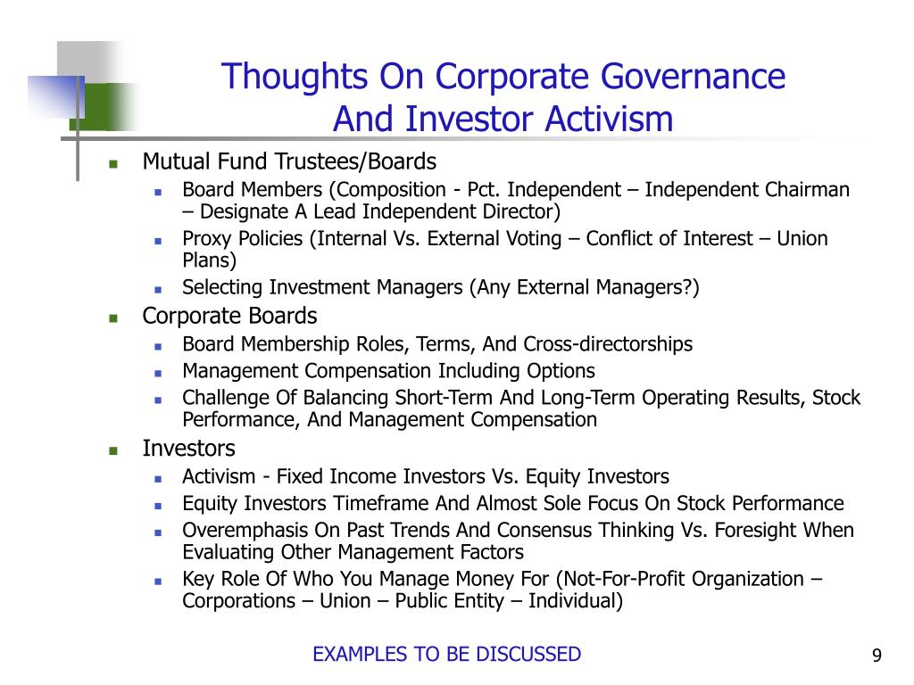 Thoughts On Corporate Governance