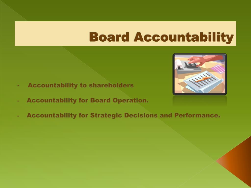 Board Accountability