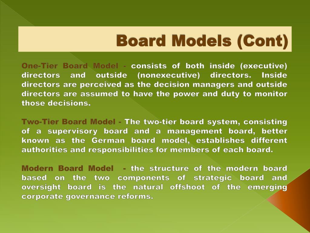 Board Models (Cont)